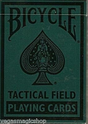 Tactical Field Deck Bicycle Playing Cards Poker Size USPCC New Green or Black