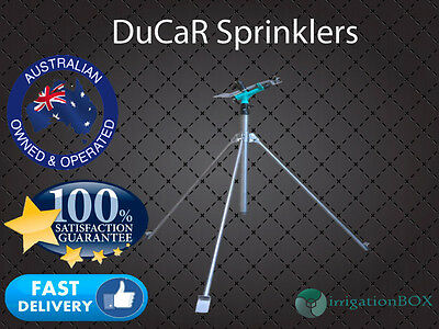 """PC Impact Sprinkler DuCaR Atom 27 ECON - with 3 POD 1"""" inlet, heavy duty stand"""