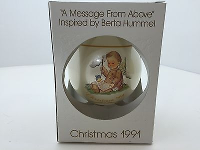 "1991 Berta Hummel ""A Message From Above"" Schmid Christmas Ball- IOB"