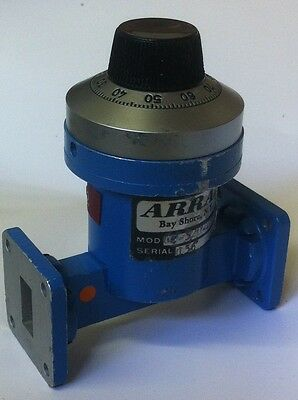 ARRA WG18  0 - 25dB VARIABLE WAVE GUIDE 12.4 - 18.0Ghz  ATTENUATOR  ae1y16