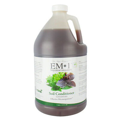 TeraGanix EM-1 Soil Conditioner Concentrate Microbial Organic Inoculant 1 Gallon