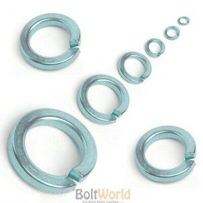 Zinc Plated Square Spring Lock Coil Washers M3 M4 M5 M6 M8 M10 M12 M20 M24 M30