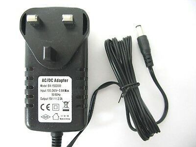 1500Ma/1.5A 15V Ac/dc Mains Uk Regulated Switching Power Adaptor/supply/charger