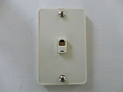 10Pc. Modular Phone Jack Wall Plate Surface Mount 4 Wire Flush Telephone, Ivory