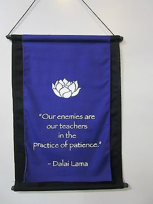 Mini Purple Inspirational Lotus Flower Affirmation Wall Hanger Scroll