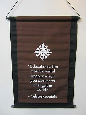 Mini Brown Inspirational Mandela Affirmation Wall Hanger Scroll