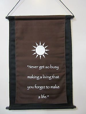 Mini Brown Inspirational Sun Mandela Affirmation Wall Hanger Scroll