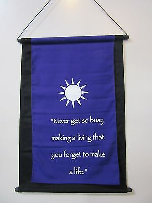 Mini Purple Inspirational Sun Mandela Affirmation Wall Hanger Scroll