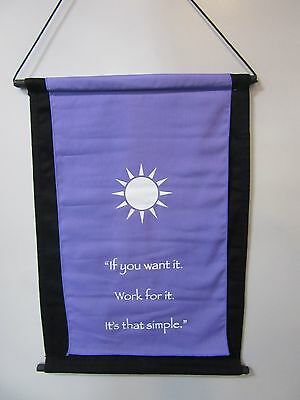 Mini Violet Inspirational Sun Mandela Affirmation Wall Hanger Scroll