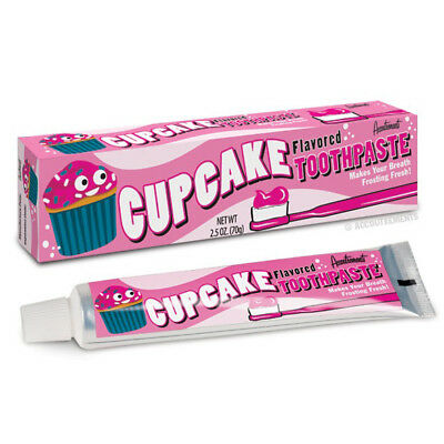 Cupcake Toothpaste Novelty Gift Kids Children Kitsch Rockabilly Retro Kawaii