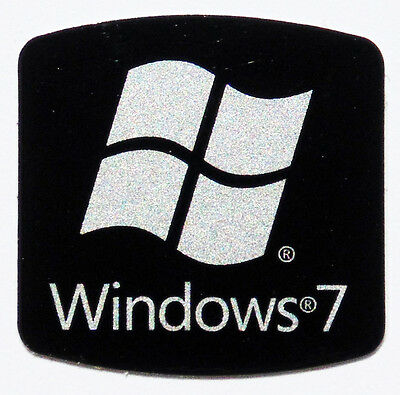 REPLACEMENT WINDOWS 7 BLACK STICKER LOGO AUFKLEBER 17,5x17,5mm [356]