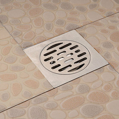 Stainless Steel Square Waste Floor Drain Cover Kitchen Wetroom Bathroom Balcony