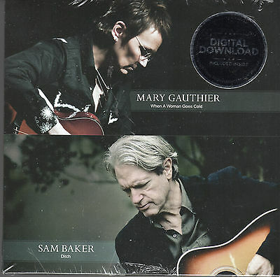 """Mary Gauthier. When A Woman Goes Cold.sam Baker - Ditch. New 7"""" Single"""