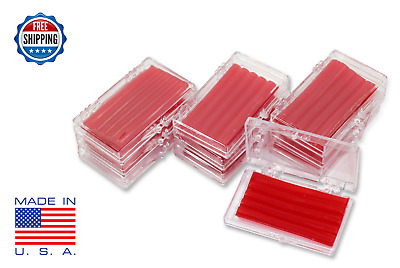 10 Pack Orthodontic WAX For BRACES Irritation RED CHERRY SCENTED Dental Relief