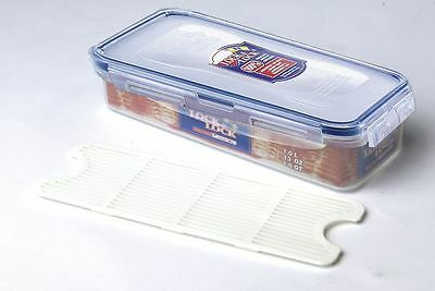 Lock And & Lock Plastic Bacon Box With Freshness Tray 1L Hpl842