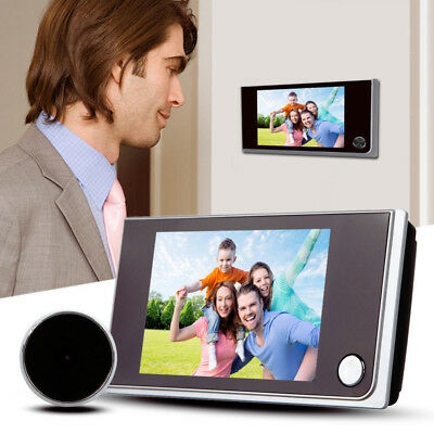 "3.5""LCD Display Digital Door Peephole Viewer Home Surveillance wide angle Camera"