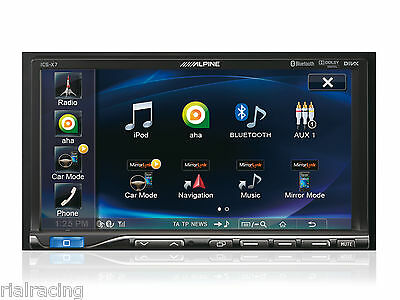 Pantalla Monitor Radio Usb Bluetooth Alpine Con Enlace Smartphones Coche Ics-X7