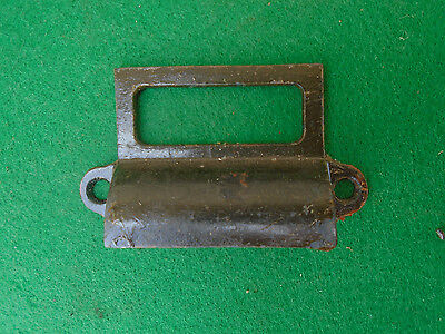VINTAGE CAST IRON BIN PULL w/LABEL FRAME -  VERY  NICE  (4118-K)