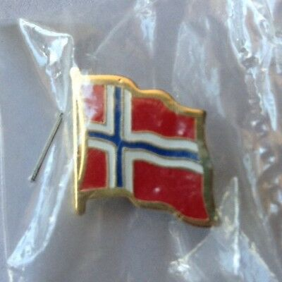 Norway Country Flag Lapel Button Pin