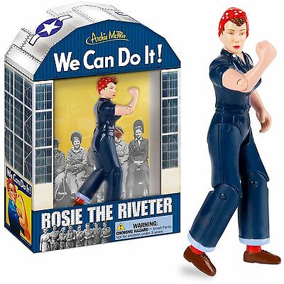 Rosie The Riveter Action Figure Unique Gift Novelty Toy We Can Do It WW2