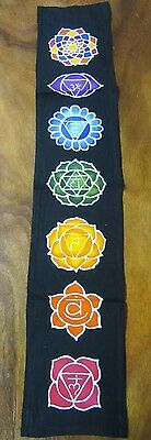 Small Batik Chakra Black Wall Hanging Metaphysical Banner