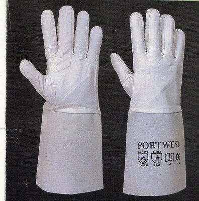 Tig Welding Gloves For Work   Welders Gauntlets Portwest A520