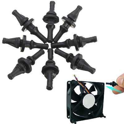 8Pcs Silicone Rubber Cooling Fan Screws Mount Case Anti-Vibration For Cooling PC