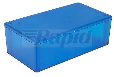Hammond 1591XXDTBU ABS Enclosure Multipurpose Translucent Blue 152 x 82 x 50mm