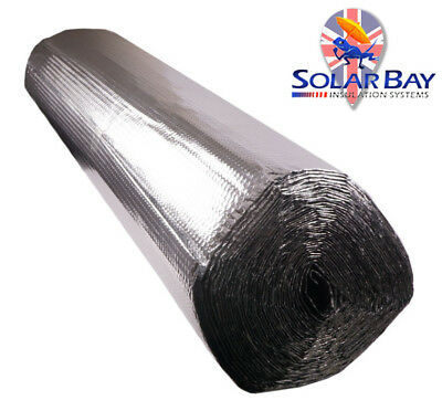 Double Foil Bubble Insulation floor wall caravan shed loft roof 37.5m2 Roll+TAPE