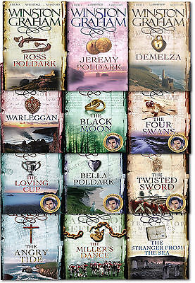 Winston Graham Poldark Series 12 Books Collection Set Novel of Cornwall