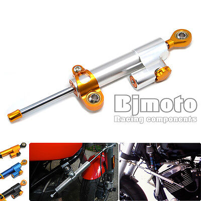 CNC Adjustable Steering Damper Hydraulic Stabilizer with Mount For Harley