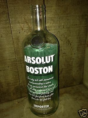 Limited Edition Absolut Vodka Boston-Red Sox Bottle # J-3035