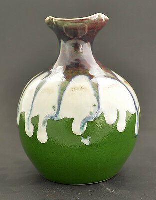"""Hand Made Color Glaze Pottery Vase 4 1/2"""" H x 3 1/2"""" W GMD-31"""