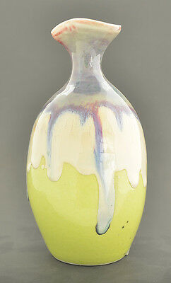"""Hand Made Color Glaze Pottery Vase 5 3/4"""" H x 3"""" W GMD-25"""