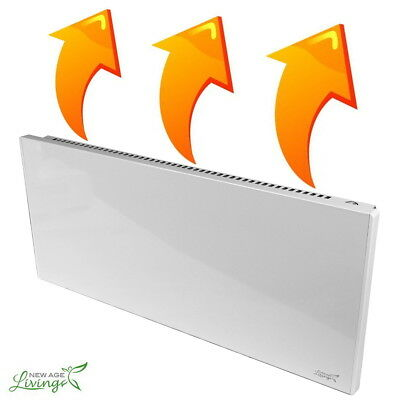1100W Convection Panel Heater Wall Mountable Portable Space Heating Radiator H