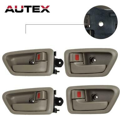 4) Front Rear Left+Right Side Beige Interior Door Handle for 97-01 TOYOTA CAMRY