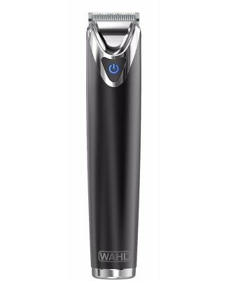New Wahl Stainless Steel Lithium Ion Beard Trimmer  Slate Black Wa9864 012