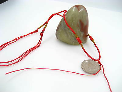 Red necklace hang string cords for jade finished adjustable necklace string
