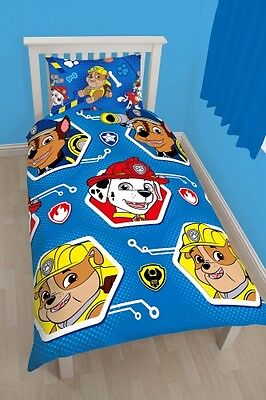 Nickelodeon Paw Patrol 'Reversible' Rotary Single Bed Duvet Quilt Cover Set