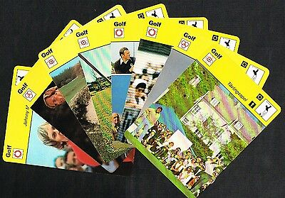 SPORTSCASTER CARDS - Golf (1977 to 1982) SWEDEN EDITION (47 021)