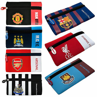School Kids Boys & Girls Official Football Club Pen Pencil Nylon Rubber Case New