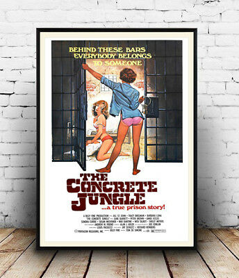 Wall art. Vintage movie advertising Reproduction poster Concrete Jungle