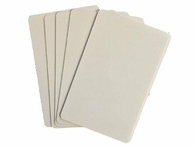 50 x Blank White PVC Plastic ID Cards CR80 - 760 Micron - 86 x 54mm
