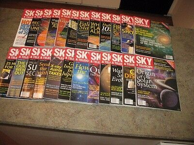 SKY AND TELESCOPE Magazine Issues from 1999-2000 Issues 24 total issues