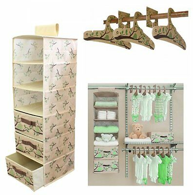 Delta Children Nursery Closet Organizer Bedroom Baby-Infant Green 20 pc. Eco