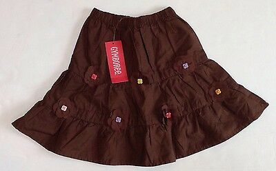 NWT Gymboree Glamour Safari 18-24 Months Brown Tiered Flower Corsage Long Skirt