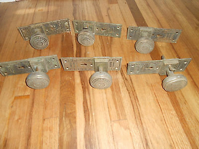 Antique Pat 1876 GILBERT RARE Lot of 6 Lever Action Door Handles Knobs Hardware