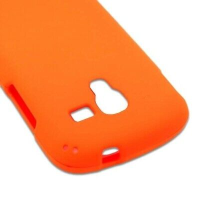 Neon Orange Case For Samsung Galaxy Exhibit T599 Hard Rubberized Snap On Cover