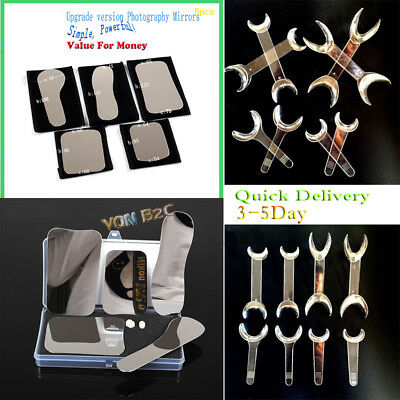 5×Dental Intraoral Clinic photography Mirror+8×Retractor Cheek Lip Mouth Opener
