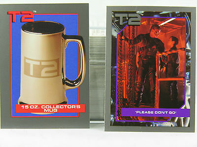 Complete Terminator 2 Set 1991 140 Cards + 10 Different Advertisement Cards